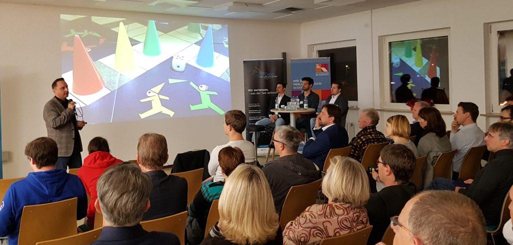 Marko Hein hält Vortrag über die digitale Transformation im Rahmen der cyberLAGO Veranstaltungsreihe Digitalisierung als Chance